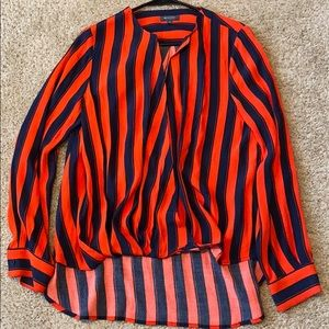 Madison Navy and Red Striped Blouse